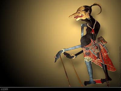 Traditional Performance javanese puppet - Petruk