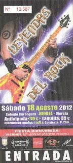 entrada festival leyendas del rock