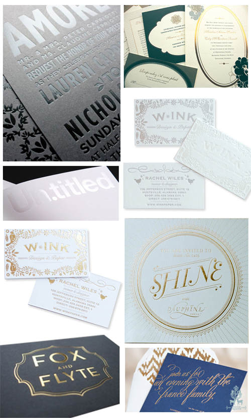 Gorgeous foil stamping, via Benign Objects (www.benignobjects.blogspot.com)