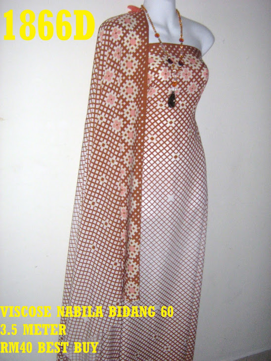 VN 1866D: VISCOSE NABILA BIDANG 60 INCI, 3.5 METER