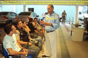 Sgt. Ricardo na Corregedoria na defesa dos PMs do 6º BPM foto 01