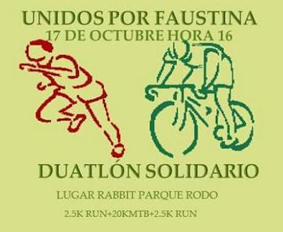Duatlón solidario Todos por Faustina (parque Rodó de San José, 17/oct/2015)