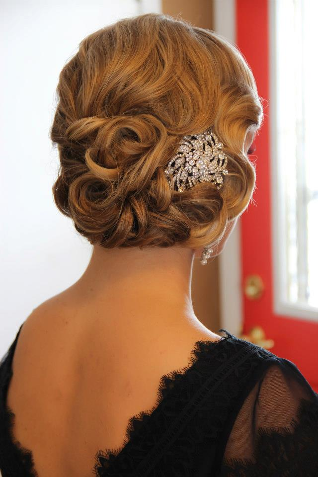 Obsession Great Gatsby Style Onsite Muse Wedding Hair