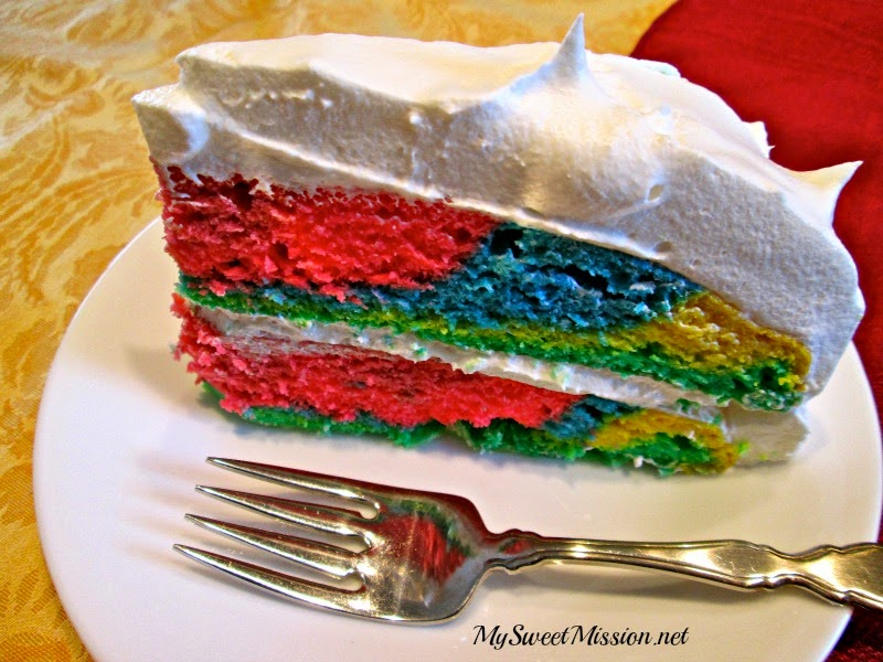 Super Man Cake with Fluffy Lite Topping by MySweetMission.net