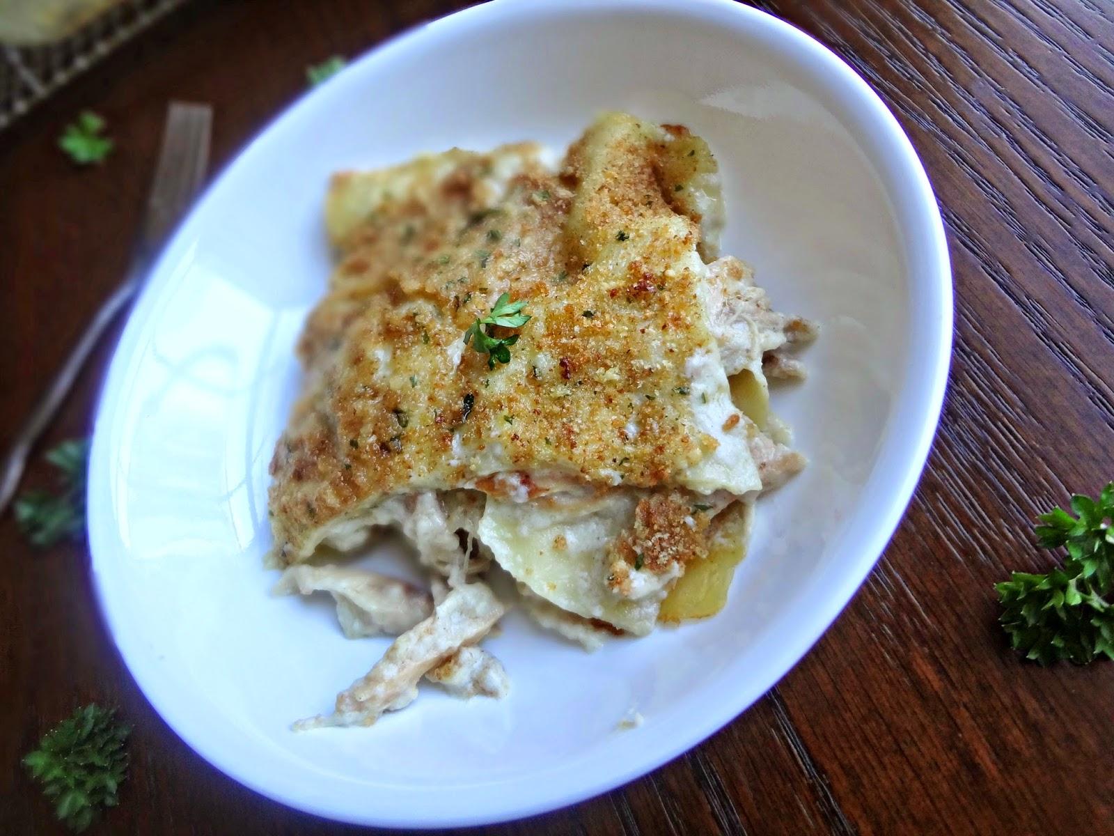 The Cooking Actress: Garlic Parmesan Chicken Lasagna