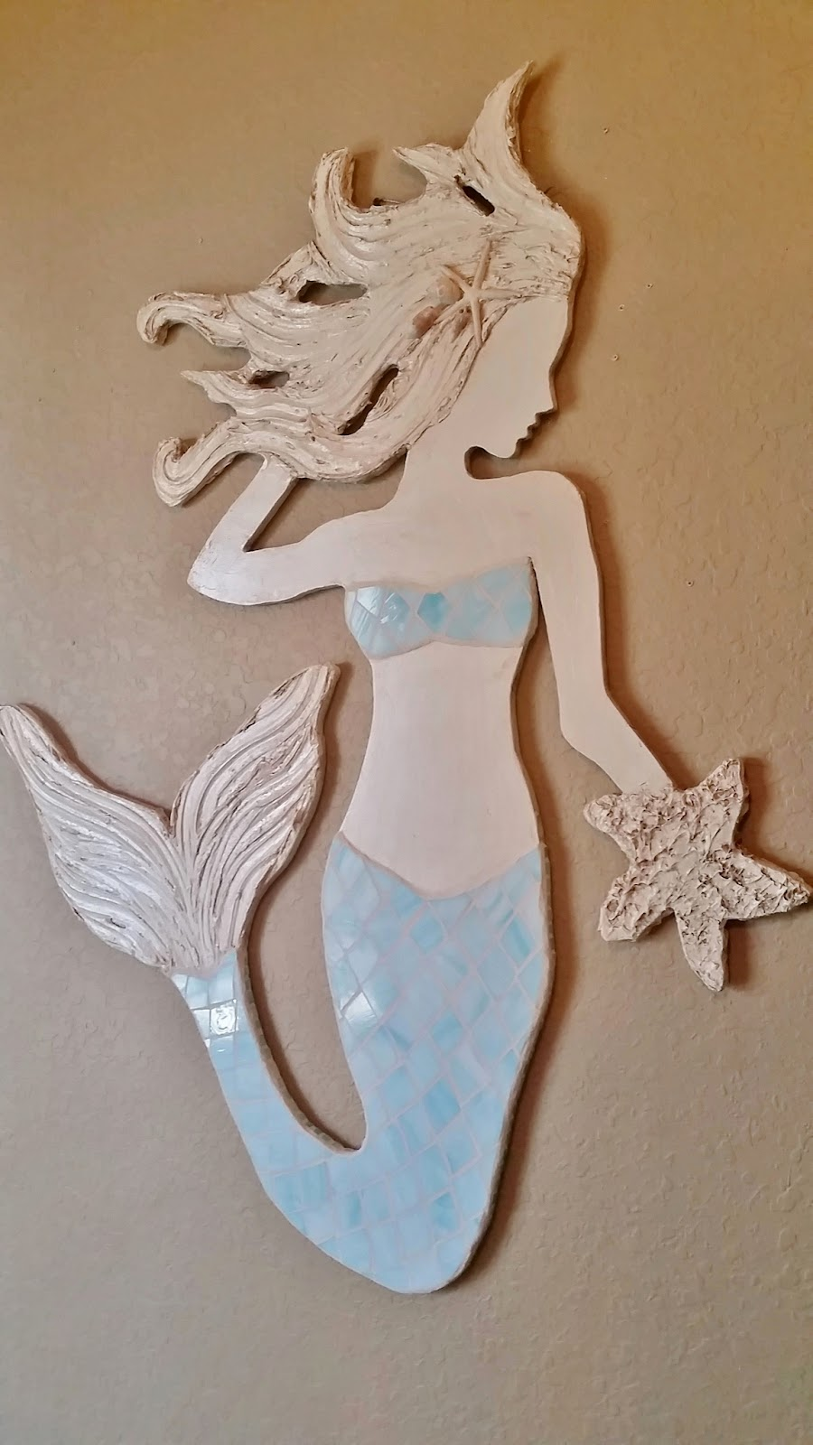 stained glass mermaid wall art