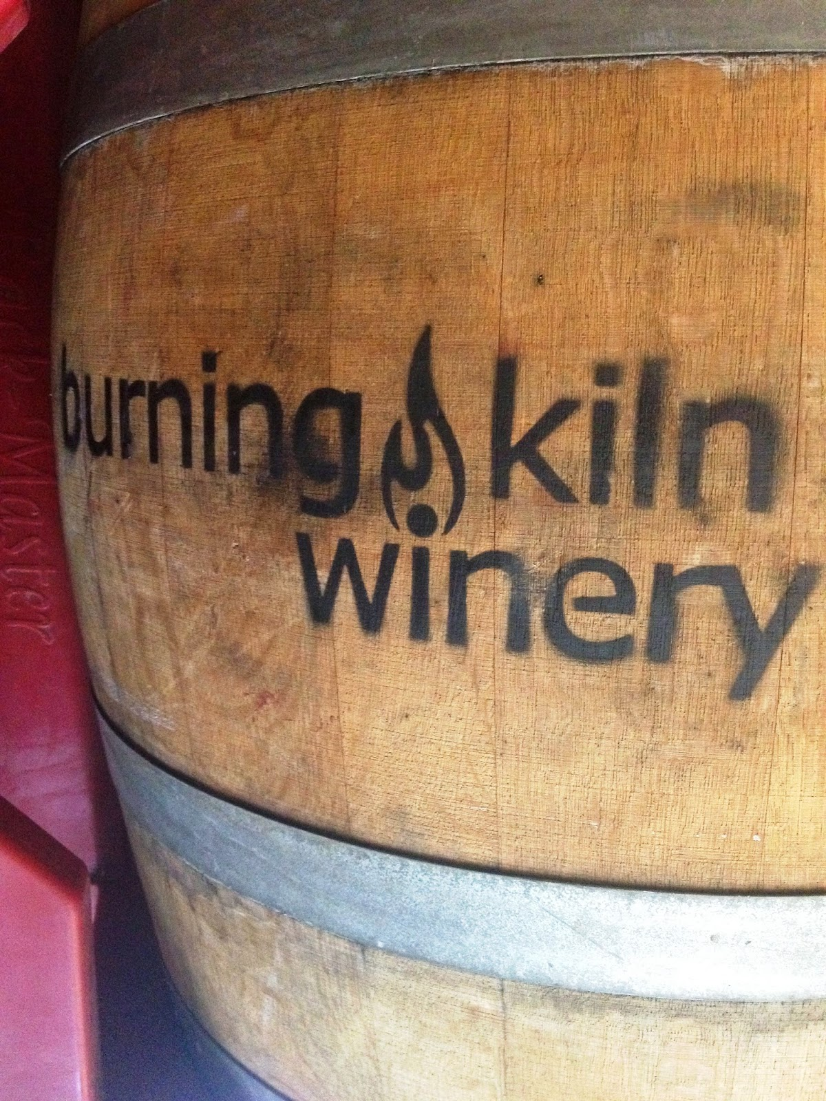 Barrel of Wine at Burning Kiln Winery