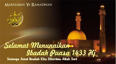 Kumpulan kata SMS Ucapan Selamat Puasa bulan Ramadhan 1434 H 2013