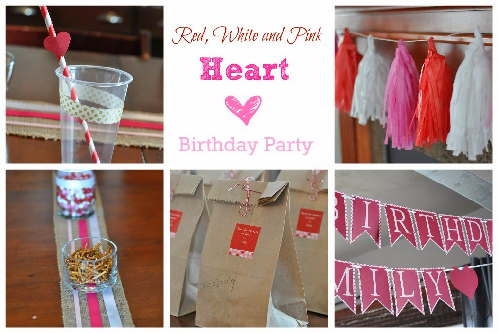 Heart birthday party - the colored door