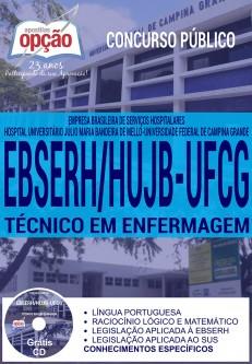 Concurso EBSERH HUJB 2016 TÉCNICO EM ENFERMAGEM - Campina Grande - Paraíba PB