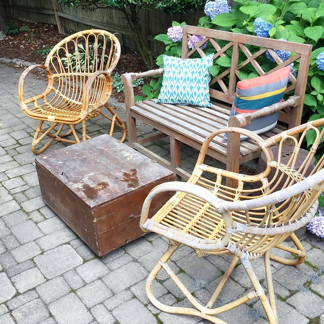 #thriftscorethursday Week 74 | Instagram user: yofserendipity shows off this Bentwood Rattan Bamboo Chairs