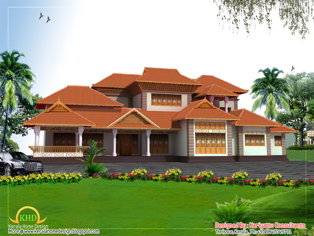 Beautiful kerala style home architecture 3858 sq ft for Home designs kerala style