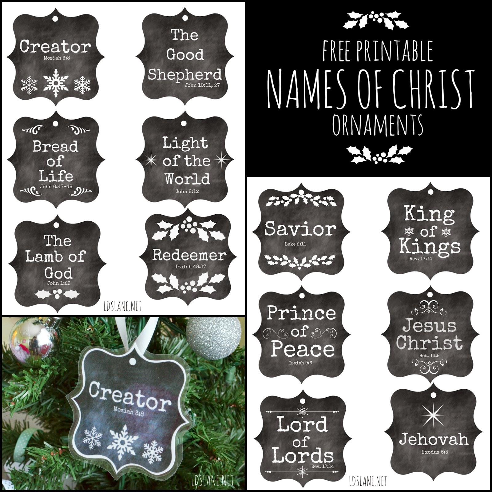 Name christmas ornaments - Free Printable Names