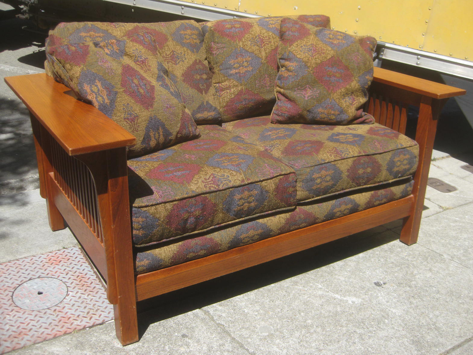 Uhuru Furniture Collectibles Sold Mission Sofa And