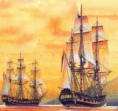 Resultado de imagen para Fotos una flotilla británica se apodera del puerto de Egmont, en poder de España.