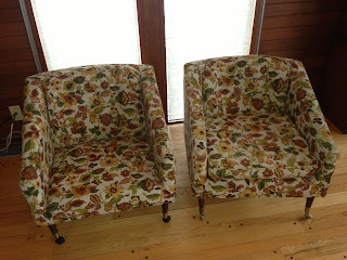 mid-century club chairs