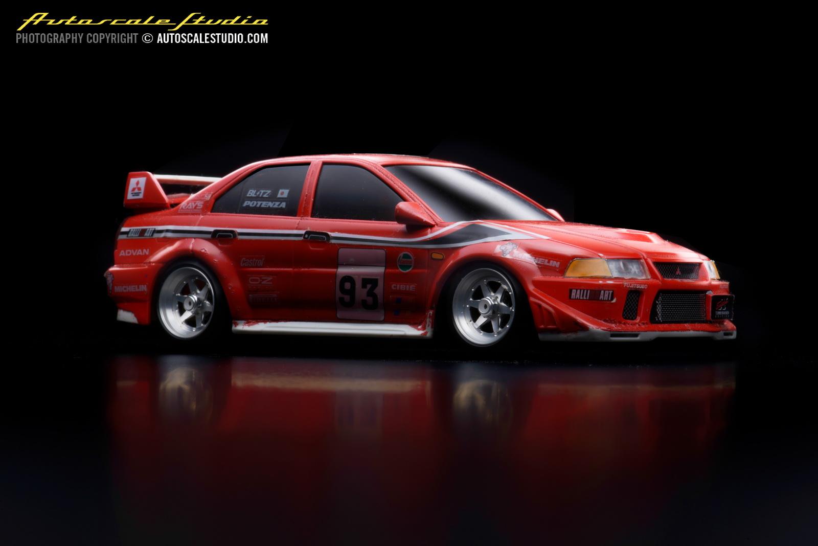 autoscale studio オートスケール・スタジオ: MZB3R Mitsubishi Lancer Evolution VI Tommi MÄKINEN edition red