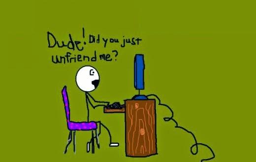 you unfriended me