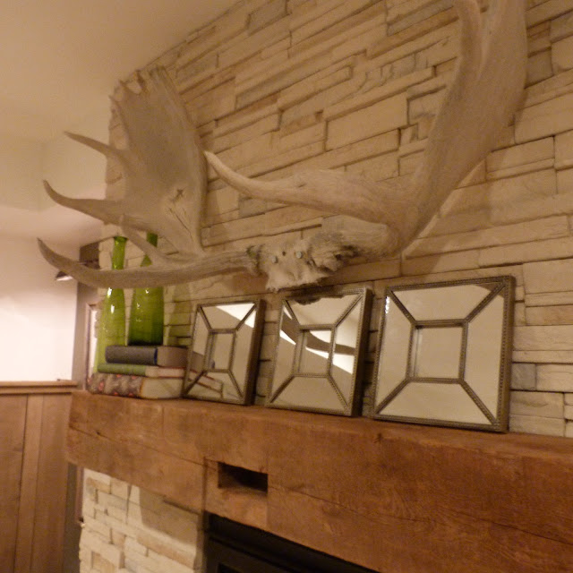 House Envy blog rustic fireplace and barn beam mantle