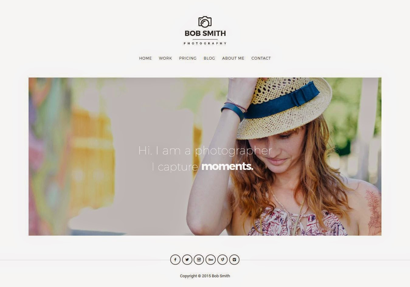 Photography WordPress Theme 2015