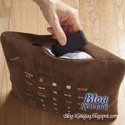 Kawal televisyen menggunakan bantal