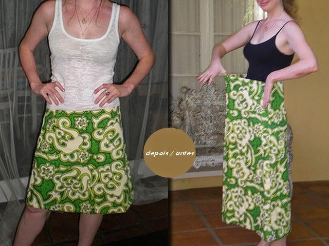 Inspiração: Ajuste de saia -  customização de uma criativa de moda e estilo.