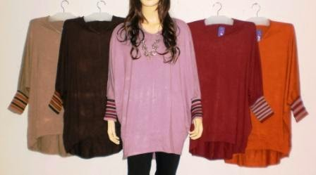 Model Terbaru baju atasan wanita remaja muslimah