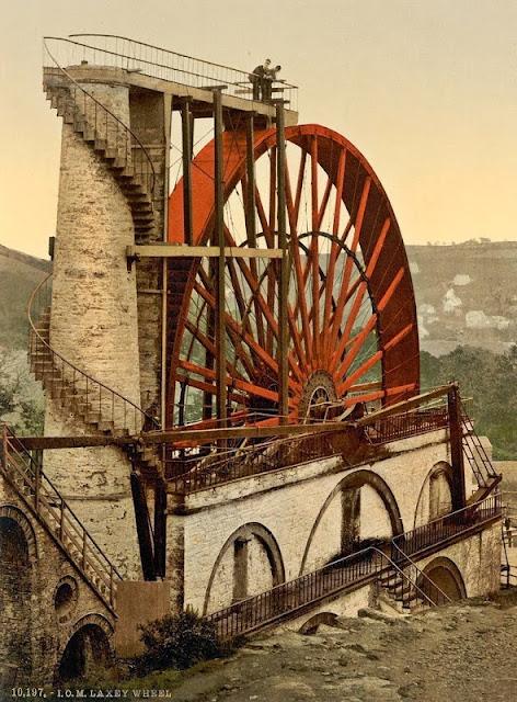 rueda hidráulica Laxey