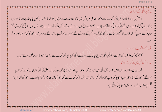 Benefits Of Fig (Anjeer) in Urdu