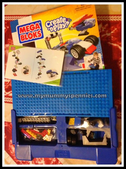 mega bloks create n play build n go pad blue