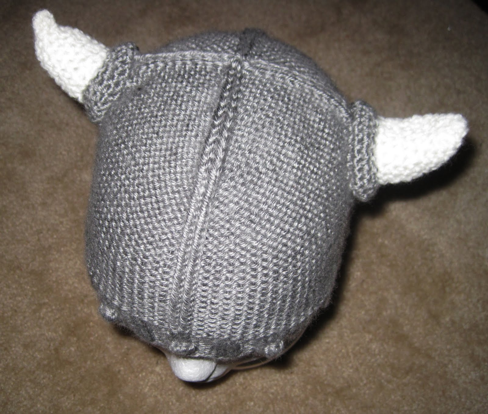 Knitting Patterns For Viking Hat : Probably Not Martha: The Viking Helmet: Crochet Pattern to Knit Pattern