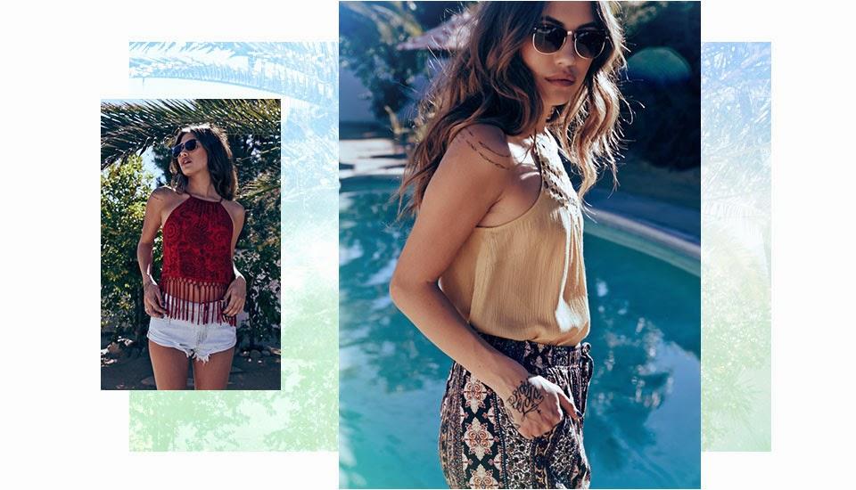 Spring Break Bohemian Boho Vanessa Hudgens Coachella Looks 2015