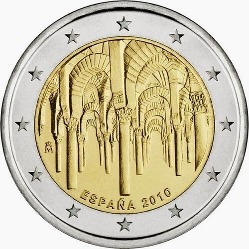 2 Euro Coins Spain 2010 Historic Centre of Cordoba UNESCO World Heritage