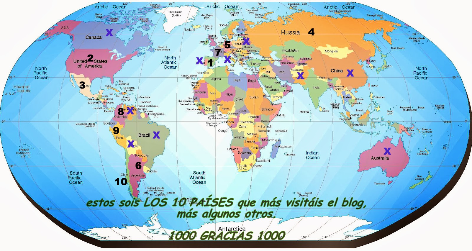 Imagenes del planisferio del mundo - Imagui