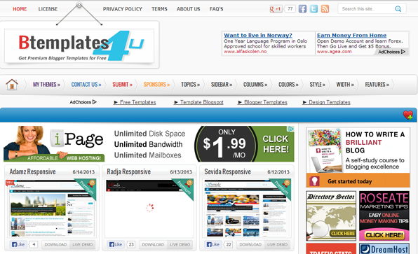 best paid blogger templates - best websites to download free premium blogger templates