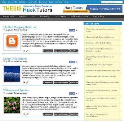 thesis blogger template preview