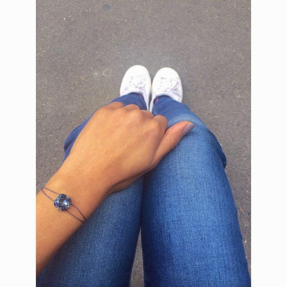 Le bracelet cordon cabochon cristal de Swarovski