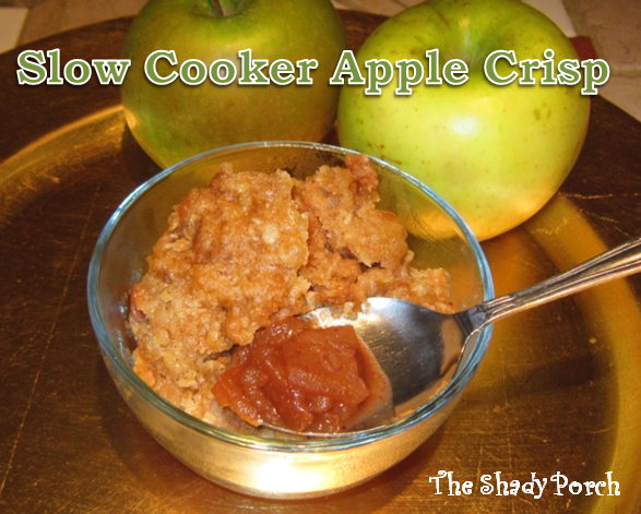 slow cooker apple crisp   The Shady Porch
