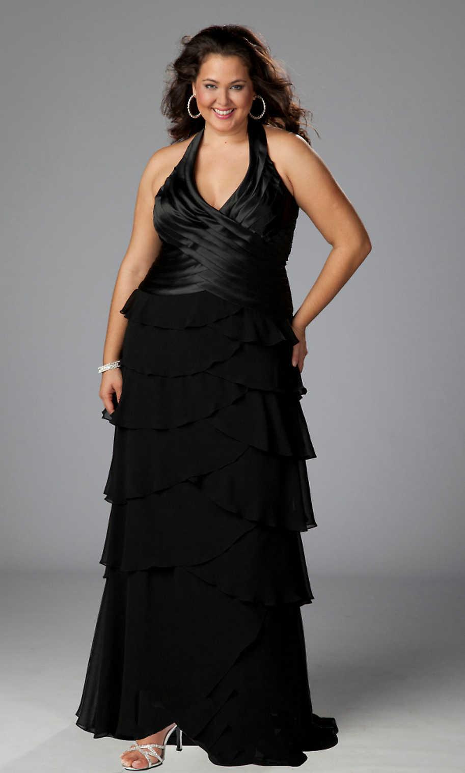 Brautkleider Große Größen Blog: Schwarzes Abendkleid für vollschlank ...