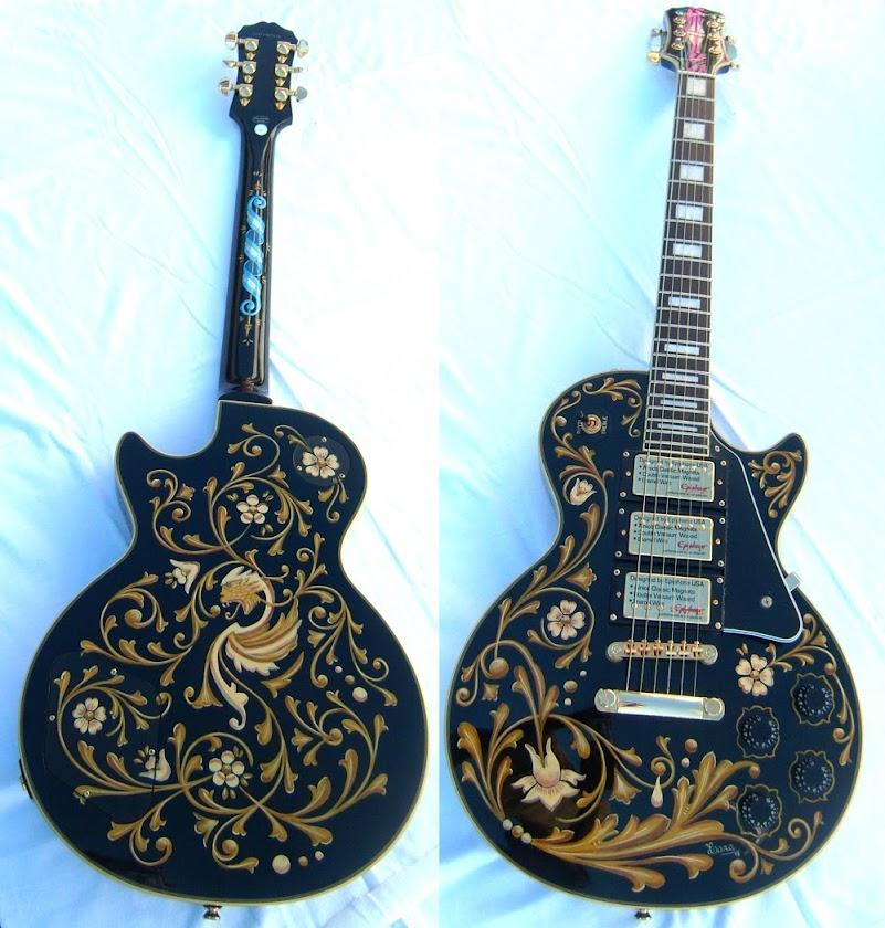 Frente y reverso Guitarra eléctrica