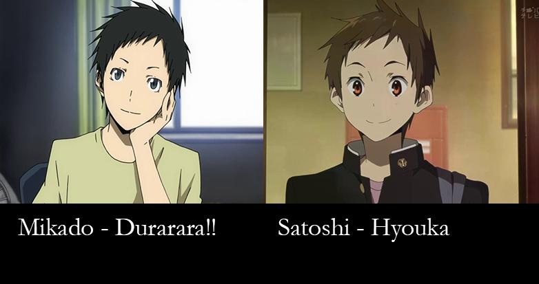 Similar characters - mikado and satoshi