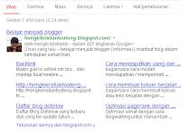 Cara Mendapatkan Google Sitelinks dan Manfaat Untuk Blog