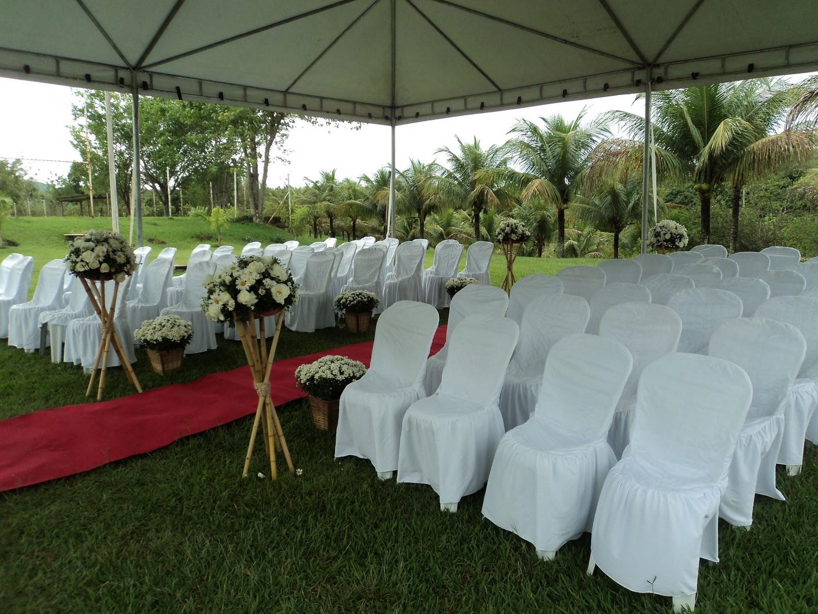 decoracao para casamento em sitio:decoração de cerimônia de casamento no sítio arca de noé com