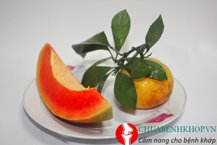 Sinh tố cam và dưa hấu rất tốt cho xương khớp