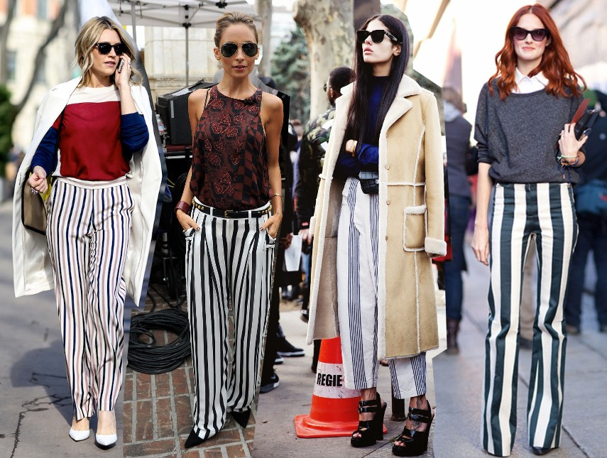 wide legged striped pants trousers spring summer trend 2014 outfits fashion blog