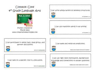 , Language Arts Common Core Posters