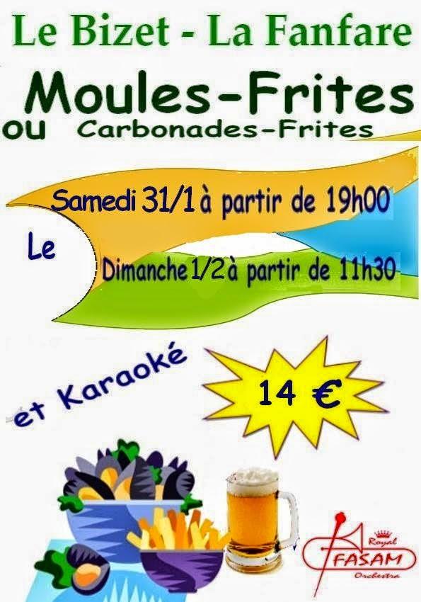 31 janvier Moules frites de la FASAM