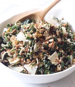 kale quinoa salad recipe by seasonwithspice.com