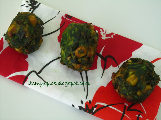 Spinach Corn Balls
