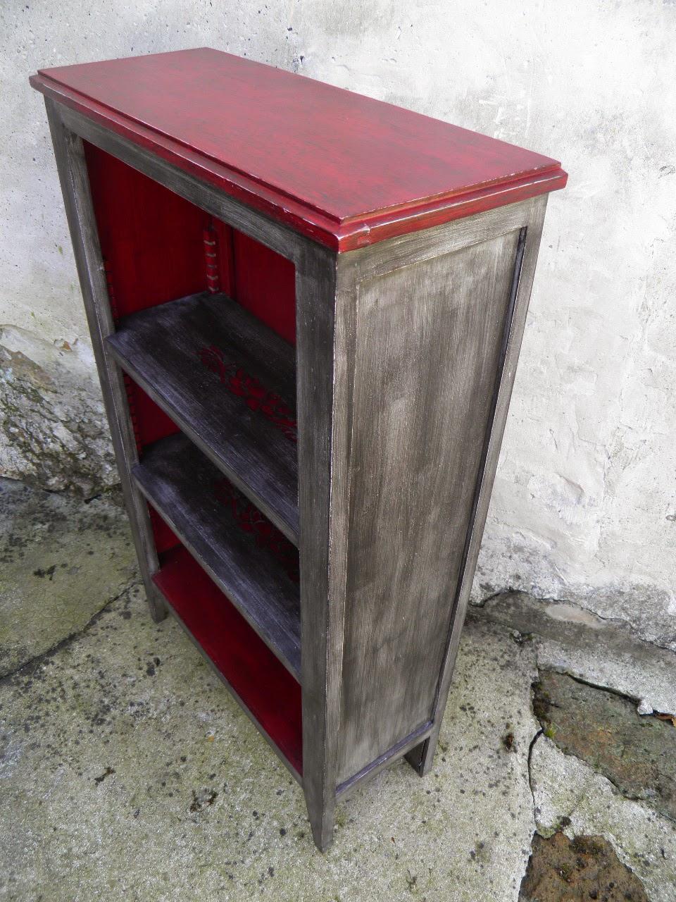 Le temps d 39 une patine petite biblioth que meuble d 39 entr e meuble chaussures vous de - Meuble patine rouge ...